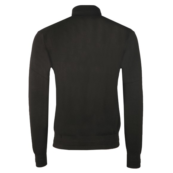 Emporio Armani Mens Brown Half Zip Knitted Jumper main image