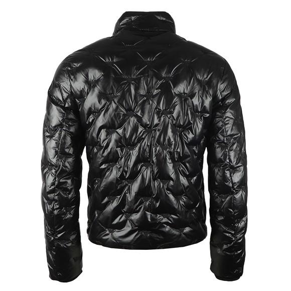 Emporio Armani Mens Black Embroidered Allover Logo Down Jacket main image
