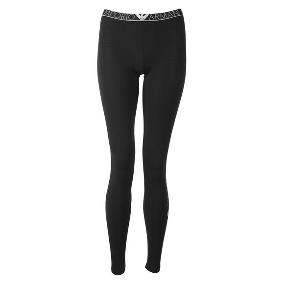 Emporio Armani Womens Black Waist Logo Legging