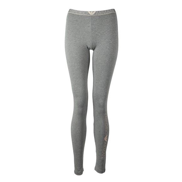 Emporio Armani Womens Grey Waist Logo Legging