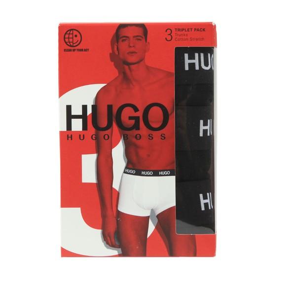 HUGO Mens Black 3 Pack Trunk