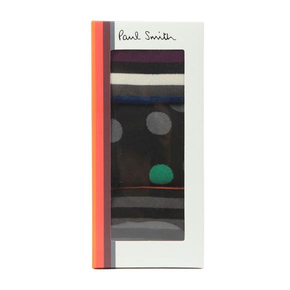 Paul Smith Mens Black 3 Pack Boxed Socks