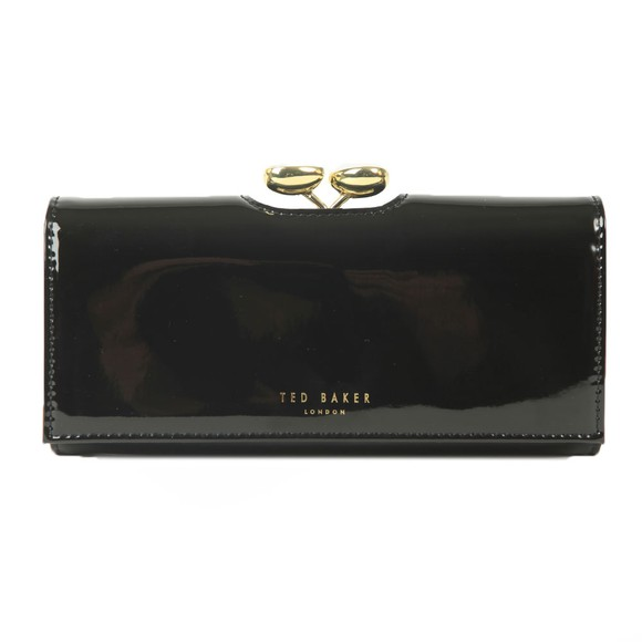 Ted Baker Womens Black Emmeyy Teardrop Crystal Patent Bobble Matinee Purse