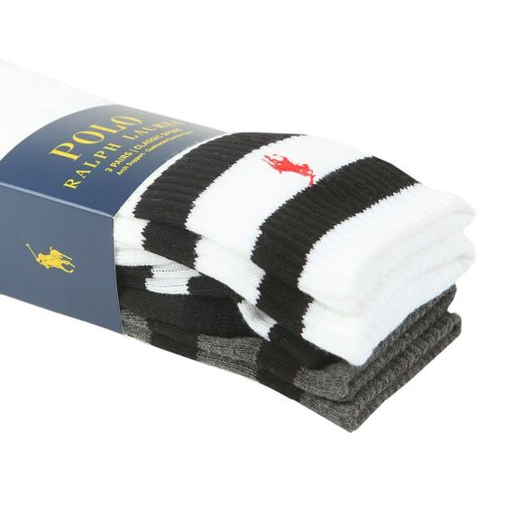 Polo Ralph Lauren Mens Multicoloured 3 Pack Crew Sock