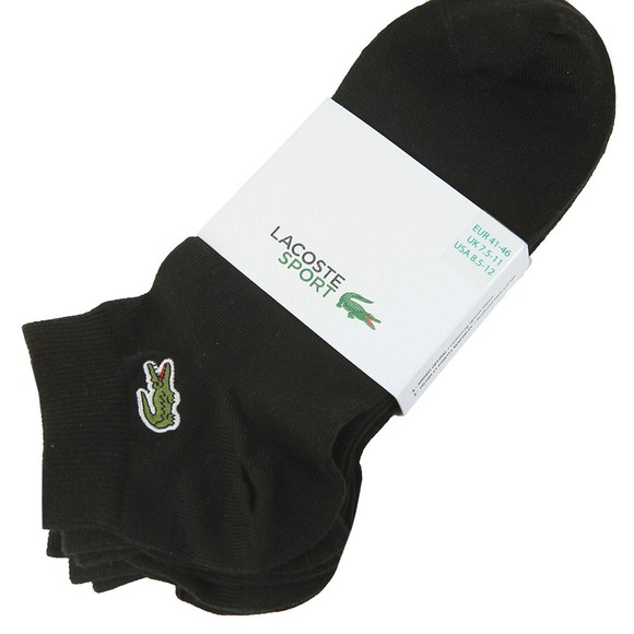 Lacoste Sport Mens Black 3 Pack Trainer Sock