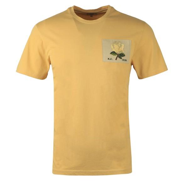 Kent & Curwen Mens Yellow Rose 1926 Icon T Shirt