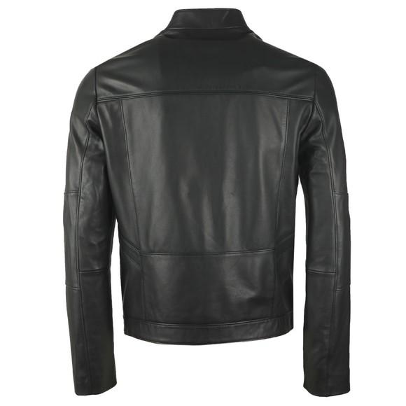 HUGO Mens Black Lonas Leather Jacket main image
