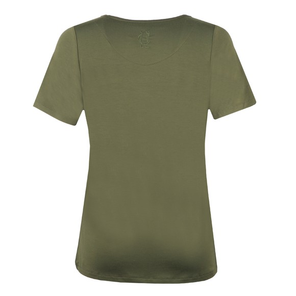 Holland Cooper Womens Green Relax Fit V Neck T Shirt main image