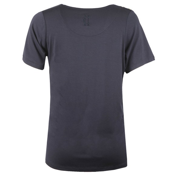 Holland Cooper Womens Blue Relax Fit V Neck T Shirt main image