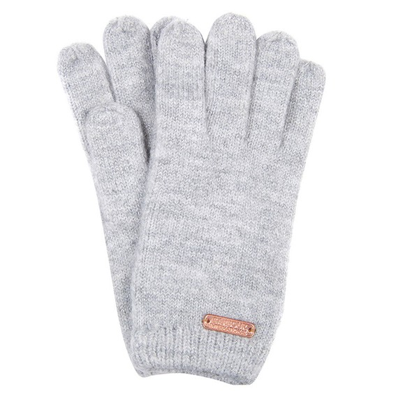 Barbour International Womens Grey Sparkle Gloves