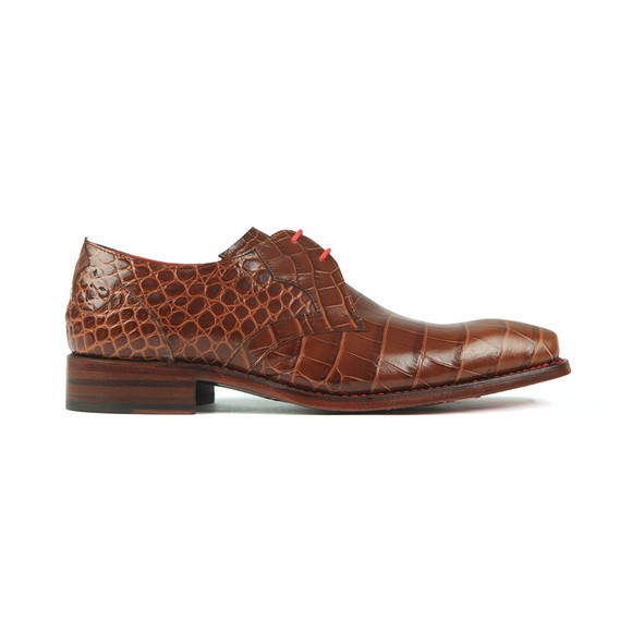 Jeffery West Mens Brown Crash Croco Shoe main image