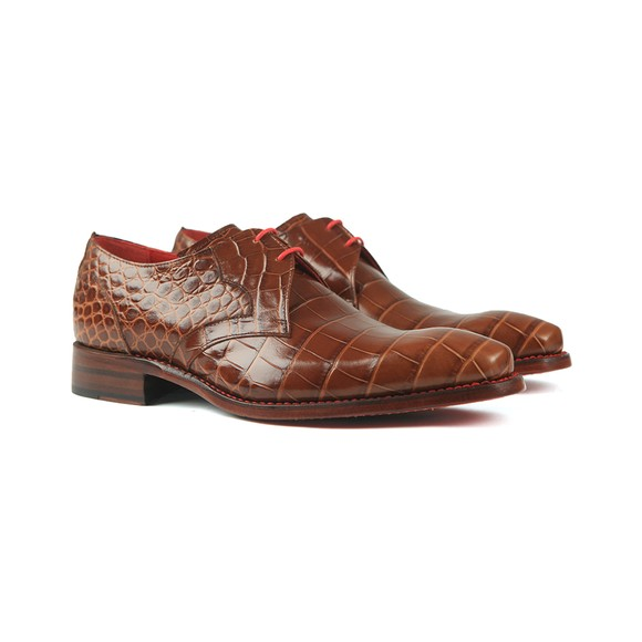 Jeffery West Mens Brown Crash Croco Shoe