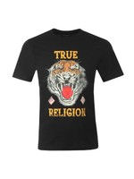 Distressed Tiger Crew Neck T-Shirt