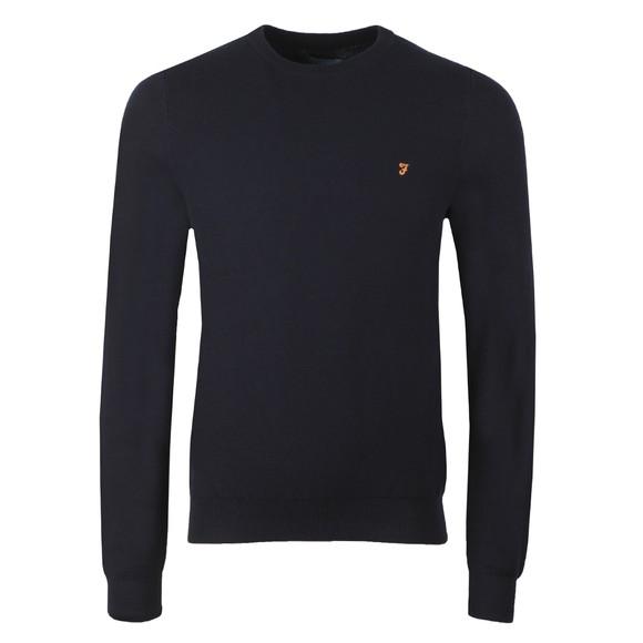 Farah Mens Blue Lynval Crew Sweatshirt