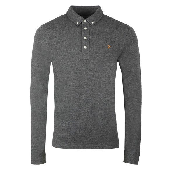 Farah Mens Grey Ricky LS Polo