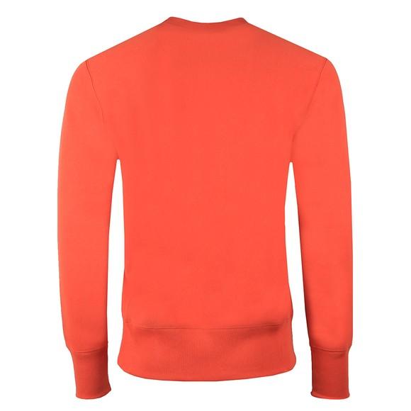 Champion Reverse Weave Mens Orange Small Logo Sweatshirt main image
