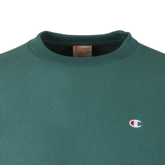 Champion Reverse Weave Mens Green Small Logo Sweatshirt main image