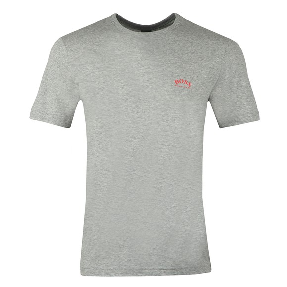 BOSS Mens Grey Athleisure Curved T-Shirt