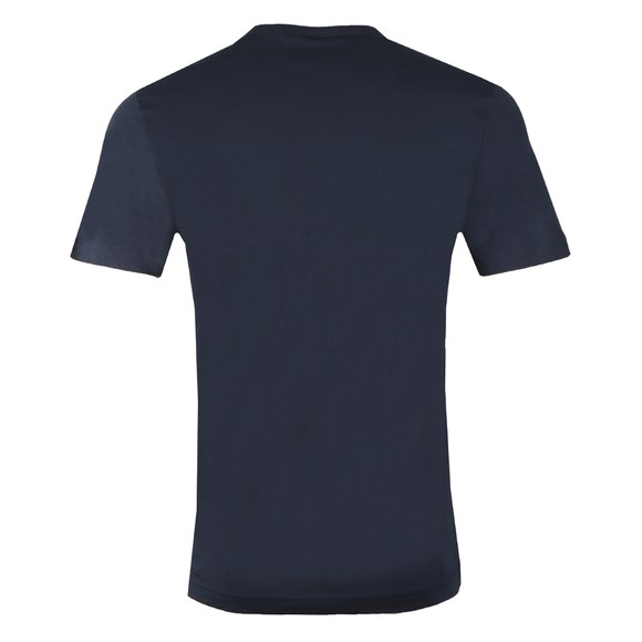 BOSS Mens Blue Athleisure Curved T-Shirt