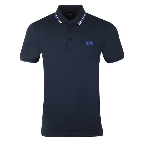 BOSS Mens Blue Athleisure Paddy Pro Polo Shirt