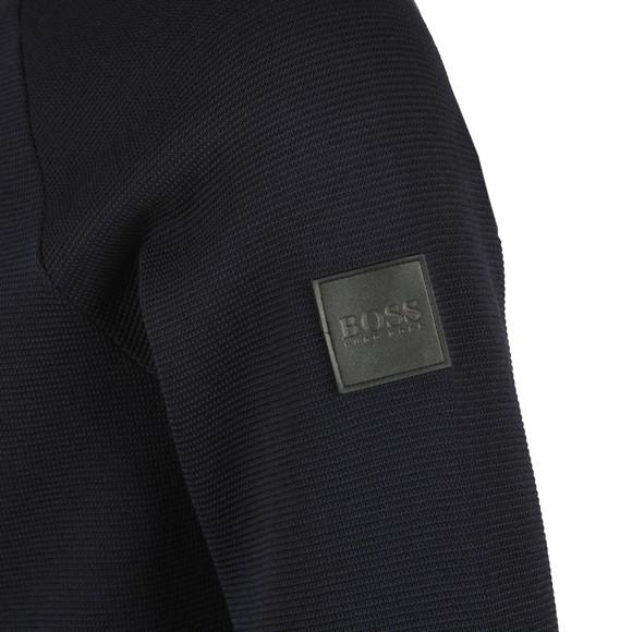 BOSS Mens Blue Formal Shepherd 36 Full Zip Sweatshirt main image