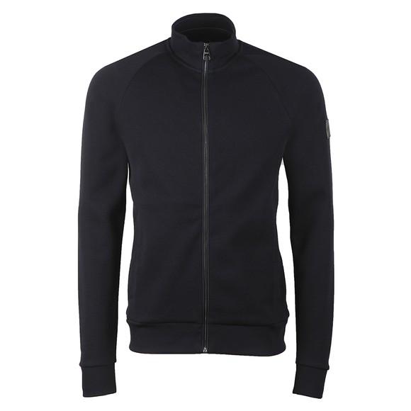 BOSS Mens Blue Formal Shepherd 36 Full Zip Sweatshirt