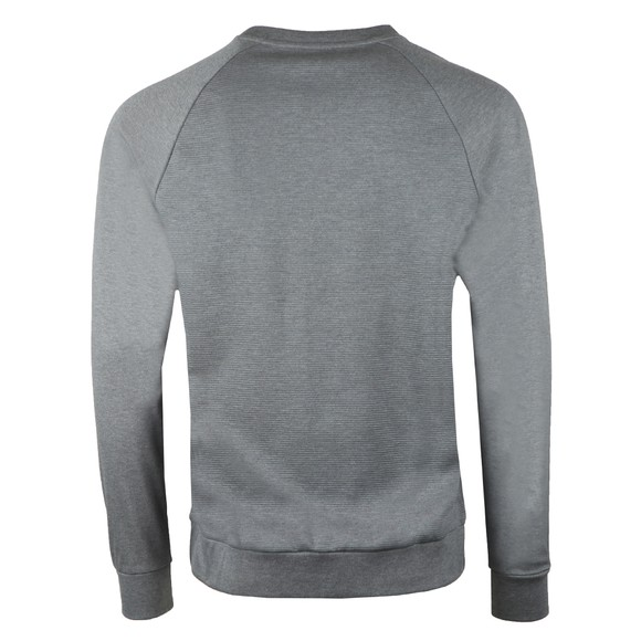 BOSS Bodywear Mens Grey Centre Logo Contemp Sweatshirt