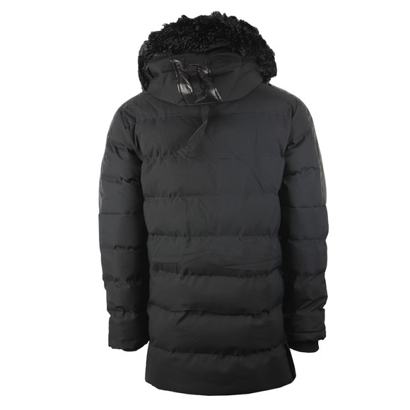 Kings Will Dream Mens Black Hunton Long Parka Jacket