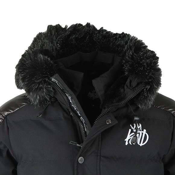 Kings Will Dream Mens Black Hunton Long Parka Jacket main image
