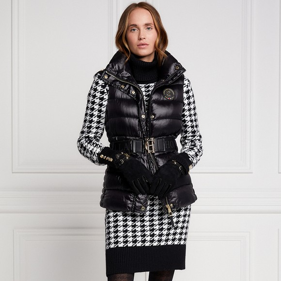 Holland Cooper Womens Black Valais Quilted Gilet main image