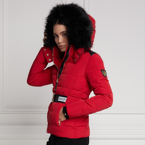 Holland Cooper Womens Red Aspen Jacket