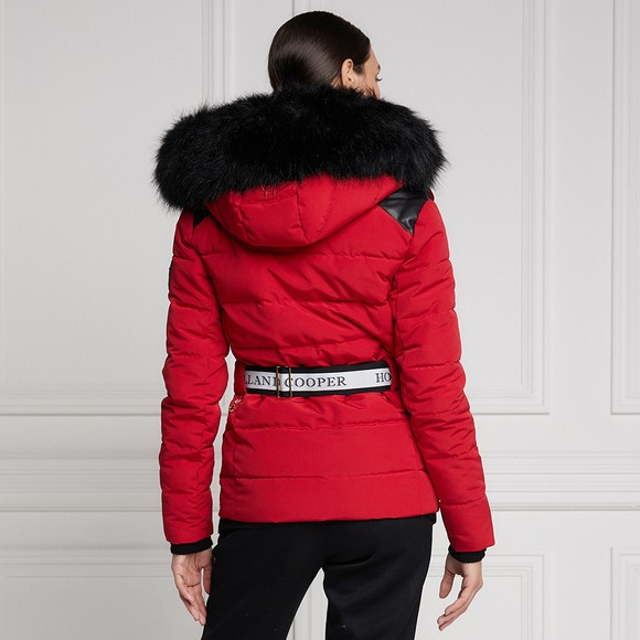 Holland Cooper Womens Red Aspen Jacket main image