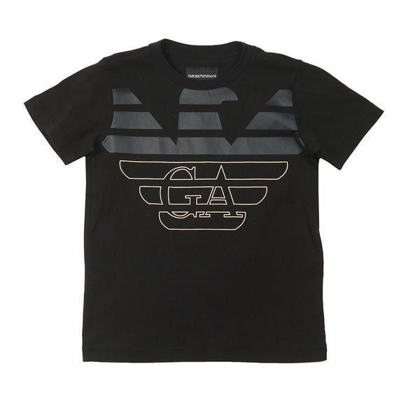 Emporio Armani Boys Black 6H4DJA Logo T Shirt