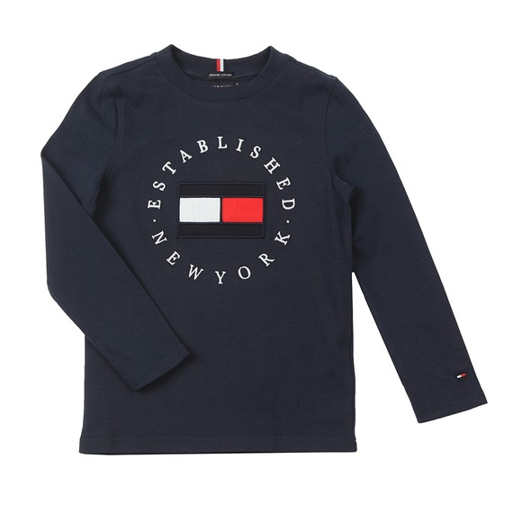 Tommy Hilfiger Kids Boys Blue Heritage Logo T Shirt