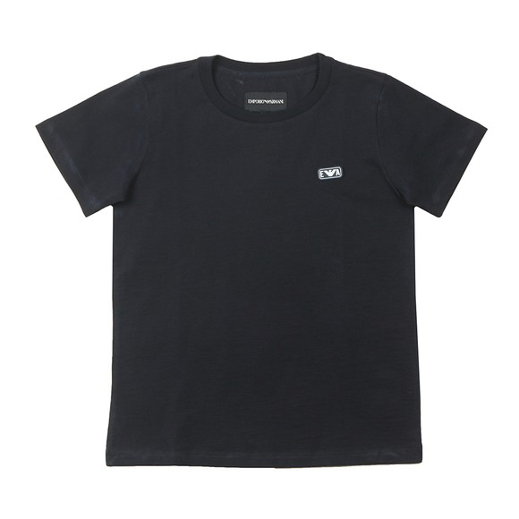 Emporio Armani Boys Blue Small Rubber Logo T Shirt