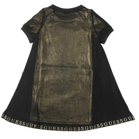 Guess Girls Black Double Layer Dress