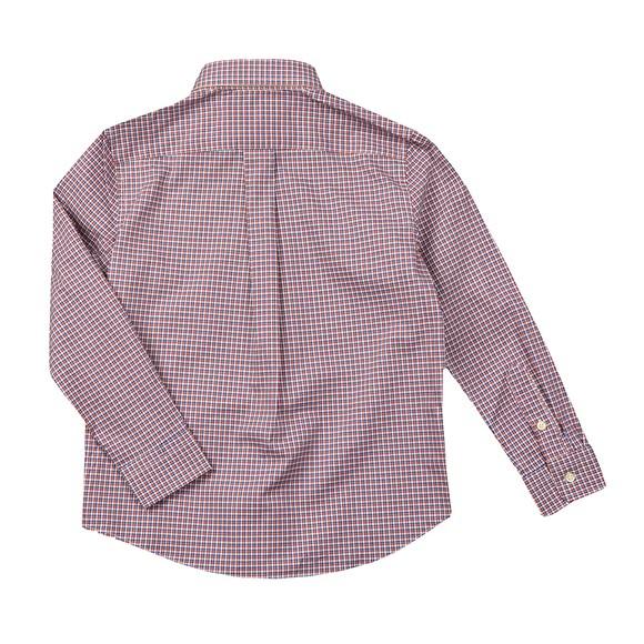 Polo Ralph Lauren Boys Red LS Small Checkered Shirt