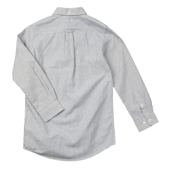 Gant Boys Blue Archive Stripe Oxford LS Shirt