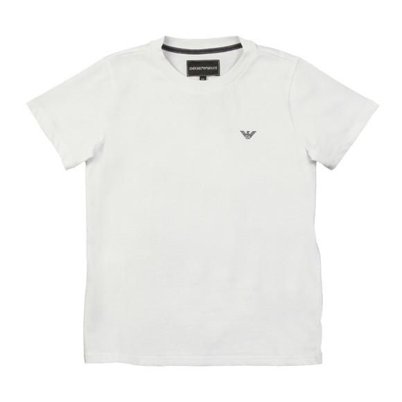 Emporio Armani Boys White Boys Small Logo T Shirt