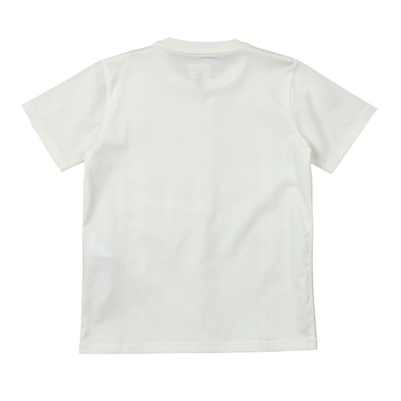 Emporio Armani Boys Off-White Tape Logo T-Shirt
