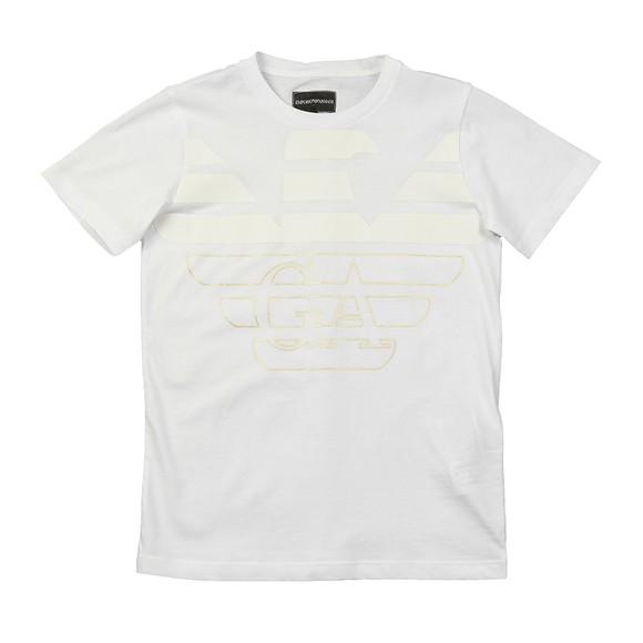 Emporio Armani Boys White 6H4DJA Logo T Shirt