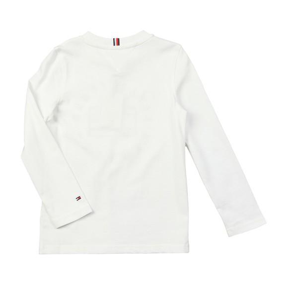Tommy Hilfiger Kids Boys White Heritage Logo T Shirt