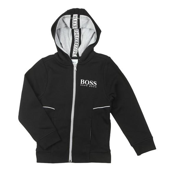 BOSS Boys Black J25J09 Full Zip Hoody main image