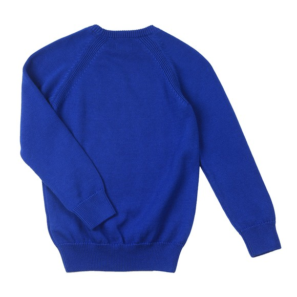 Gant Boys Blue Casual Cotton Crew Jumper