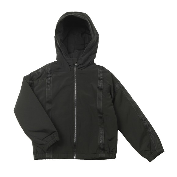 Emporio Armani Boys Black Tape Logo Jacket main image
