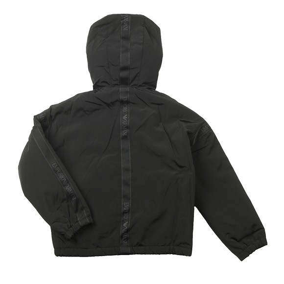 Emporio Armani Boys Black Tape Logo Jacket