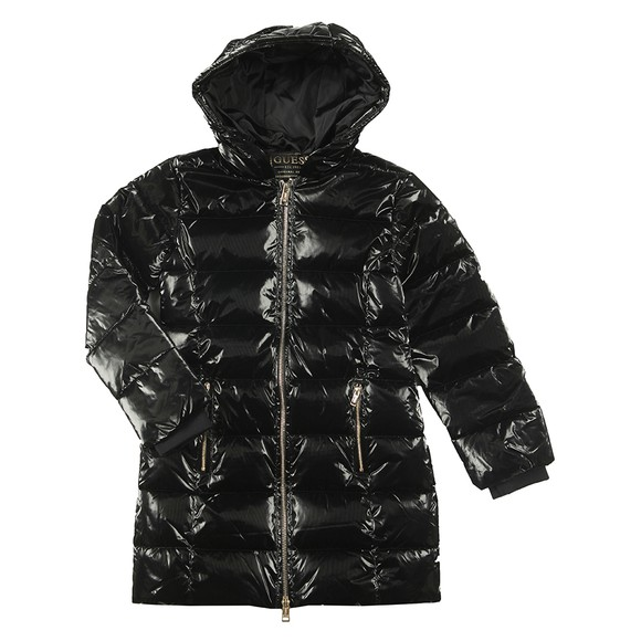 Guess Girls Black High Shine Padded Jacket