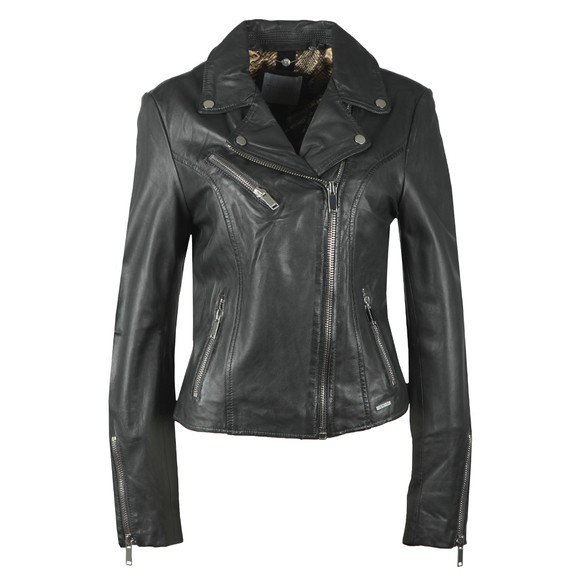 Rino & Pelle Womens Grey Ghost Leather Jacket main image