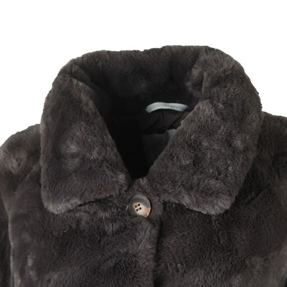 Rino & Pelle Womens Grey Zonna Faux Fur Coat