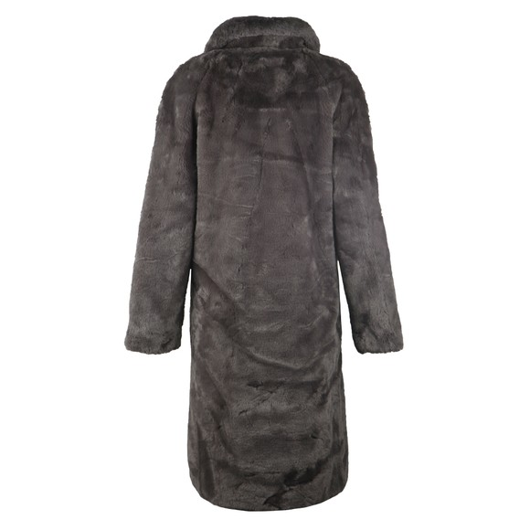 Rino & Pelle Womens Grey Zonna Faux Fur Coat main image